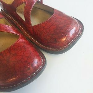 Alegria Shoes - Alegria DAY 366 Dayna Red Patent Mary Jane Shoe
